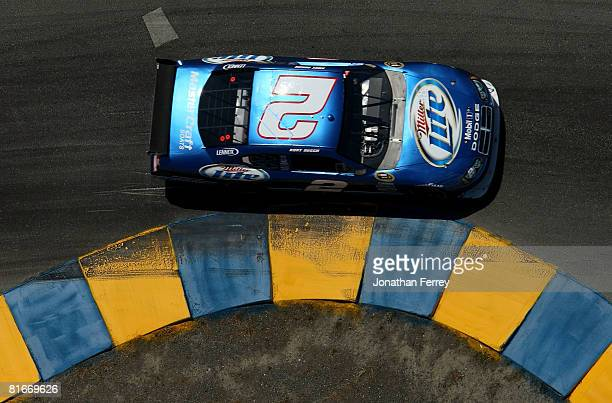 Kurt Busch in his Miller Lite Dodge during the NASCAR Sprint Cup Series Toyota/Save Mart 350 at the Infineon Raceway on June 22 2008 in Sonoma...