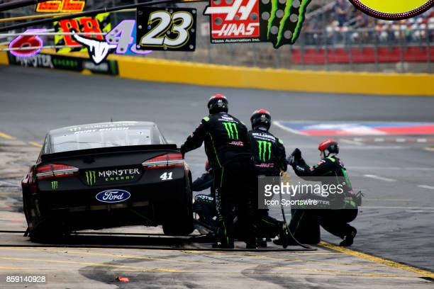 Kurt Busch StewartHaas Racing Monster Energy/Haas Automation Ford Fusion during the running of the Bank of America 500 on October 8 at Charlotte...