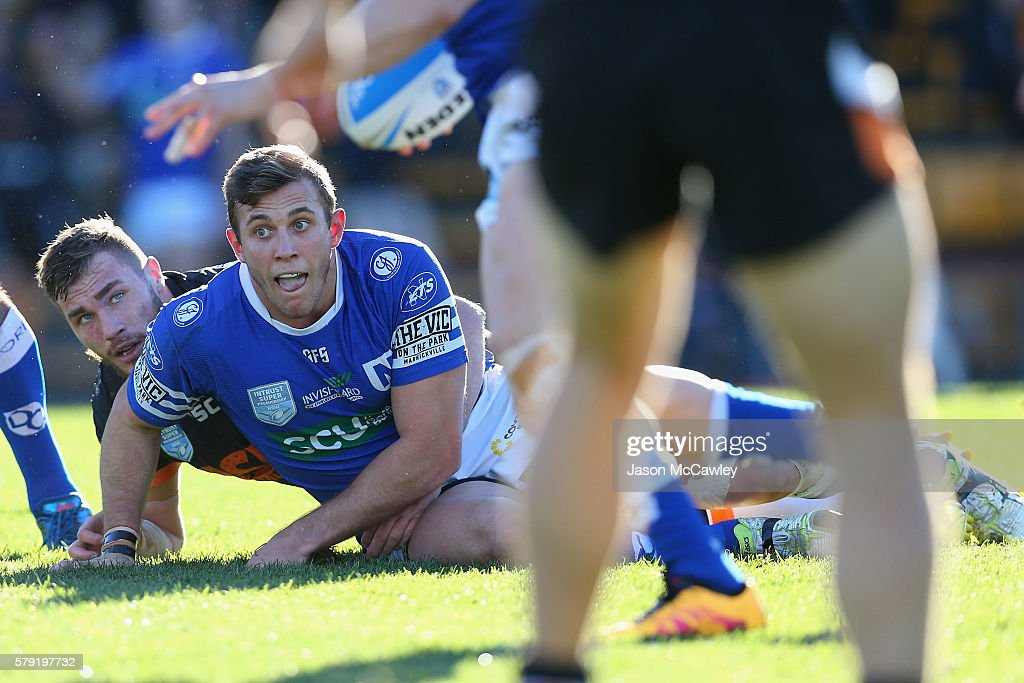 Kurt Capewell of the Newtown Jets watches on during the round 19 Intrust Super Premiership NSW match between the Wests Tigers and the Newtown Jets at Leichhardt Oval on July 23, 2016 in Sydney, Australia.