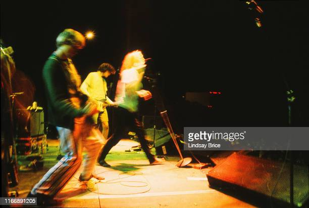September 26: Kurt Cobain joins his friends Mudhoney on stage, vocalist Mark Arm and guitarist Steve Turner , on September 26, 1992 at Castaic Lake...