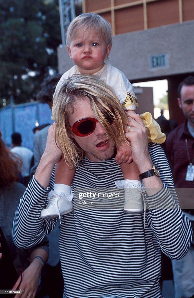 Kurt Cobain of Nirvana and daughter Frances Bean Cobain