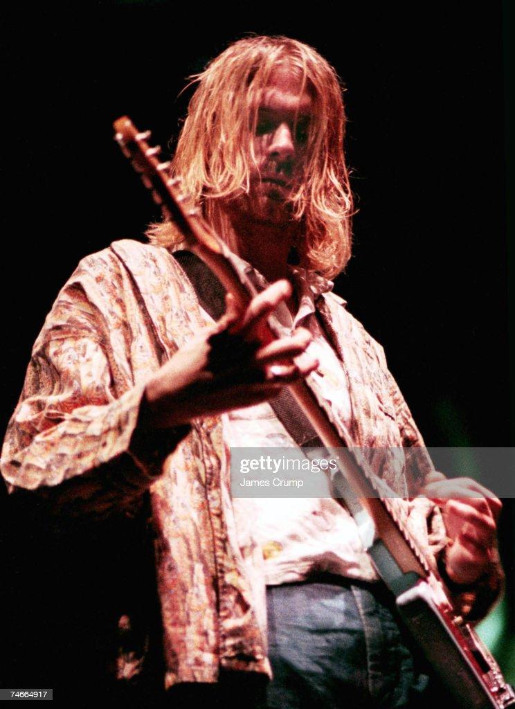 Kurt Cobain of Nirvana at the Aragon Ballroom in Chicago, Illinois