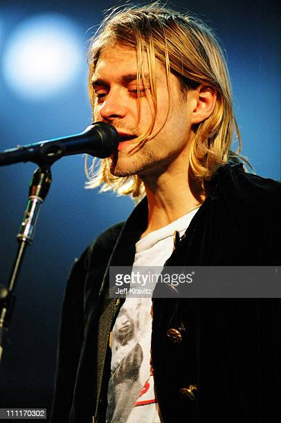 Kurt Cobain of Nirvana during MTV Live and Loud: Nirvana Performs Live - December 1993 at Pier 28 in Seattle, Washington, United States.