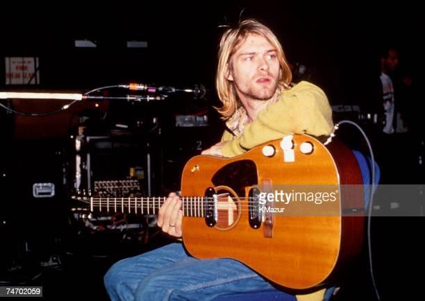 Kurt Cobain of Nirvana during Nirvana in New York, New York.