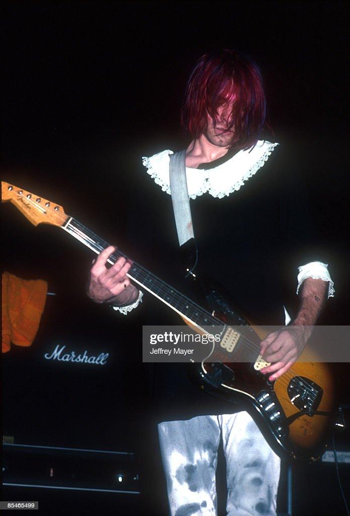 Kurt Cobain of Nirvana In Concert in 1991