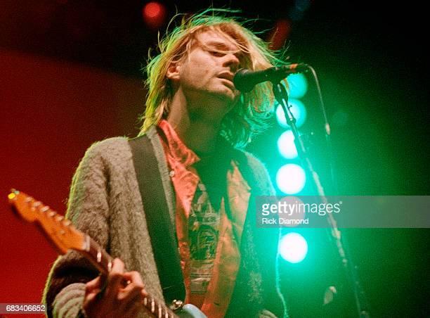 Kurt Cobain of Nirvana performs at The Omni Coliseum on November 29 1993 in Atlanta Georgia