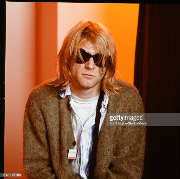 Kurt Cobain of Nirvana, portrait during an interview in Roppongi Prince Hotel, Tokyo, Japan, 18th February 1992.