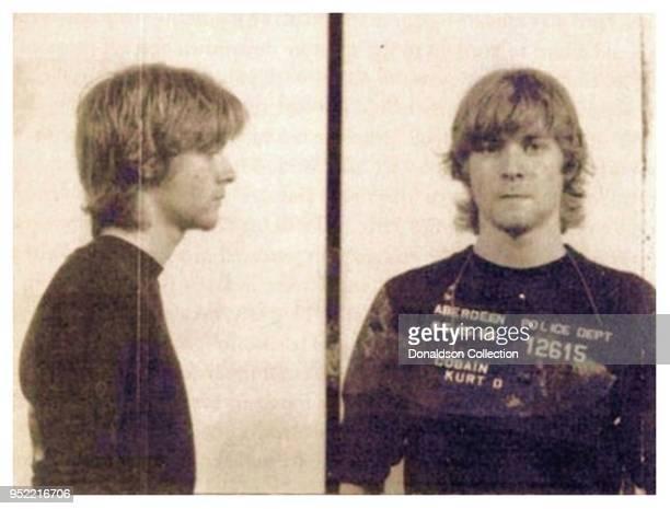 Kurt Cobain was mug shot arrested by Aberdeen, Washington police in May 1986.