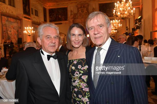 Kurt Faltlhauser Veronika von Waldenfels and Dr Georg Freiherr von Waldenfels during the new year reception of the Bavarian state government at...