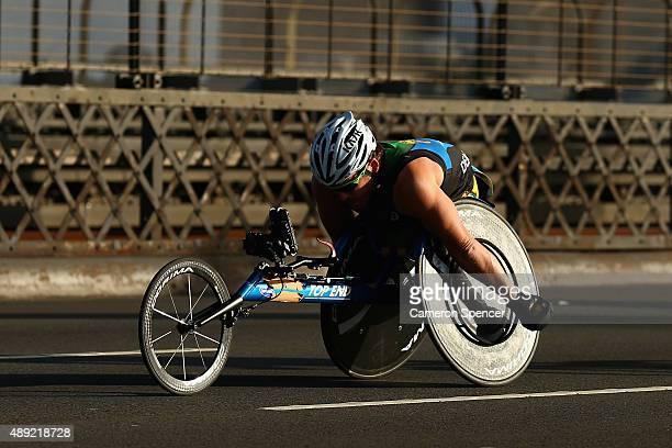 Kurt Fearnley competes in the Sydney marathon during the Blackmores Sydney Running Festival on September 20 2015 in Sydney Australia