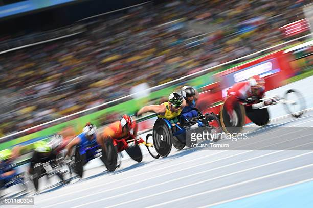 Kurt Fearnley of Australia competes in the men's 5000 meter T54 on day 2 of the Rio 2016 Paralympic Games at Olympic Stadium on September 9 2016 in...