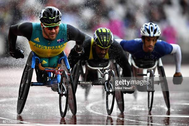 Kurt Fearnley of Australia competes in the Mens 5000m T54 final during day ten of the IPC World ParaAthletics Championships 2017 at London Stadium on...
