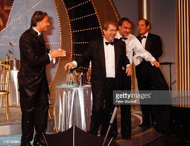 """Kurt Felix, Frank Elstner, Fritz Egner,;Morio Ota , ZDF-Show """"Versteckte;Kamera"""","""