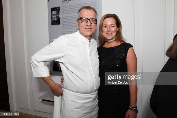 Kurt Gutenbrunner and Angelika Ahrens Gutenbrunner attend Wiener Werkstatte 19031932 The Luxury of Beauty opening reception at Neue Galerie on...