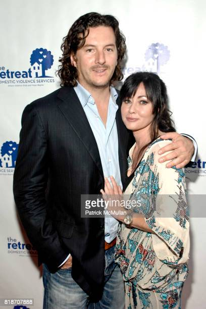 Kurt Iswarienko and Shannen Doherty attend 15th Annual Artists Against Abuse Benefit Gala at The Ross School on June 26 2010 in East Hampton New York