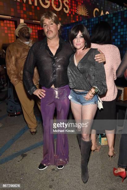 Kurt Iswarienko and Shannen Doherty attend Casamigos Halloween Party on October 27 2017 in Los Angeles California