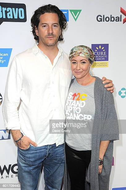 Kurt Iswarienko and Shannen Doherty attend Stand Up to Cancer 2016 at Walt Disney Concert Hall on September 9 2016 in Los Angeles California