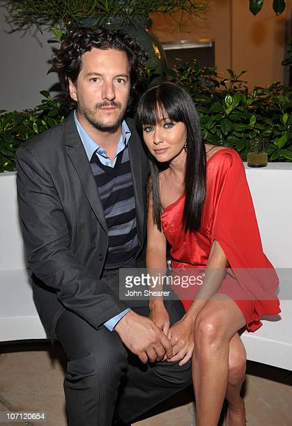 **EXCLUSIVE** Kurt Iswarienko and Shannen Doherty attend the Entertainment Weekly and Women in Film preEmmy Party presented by Maybelline...