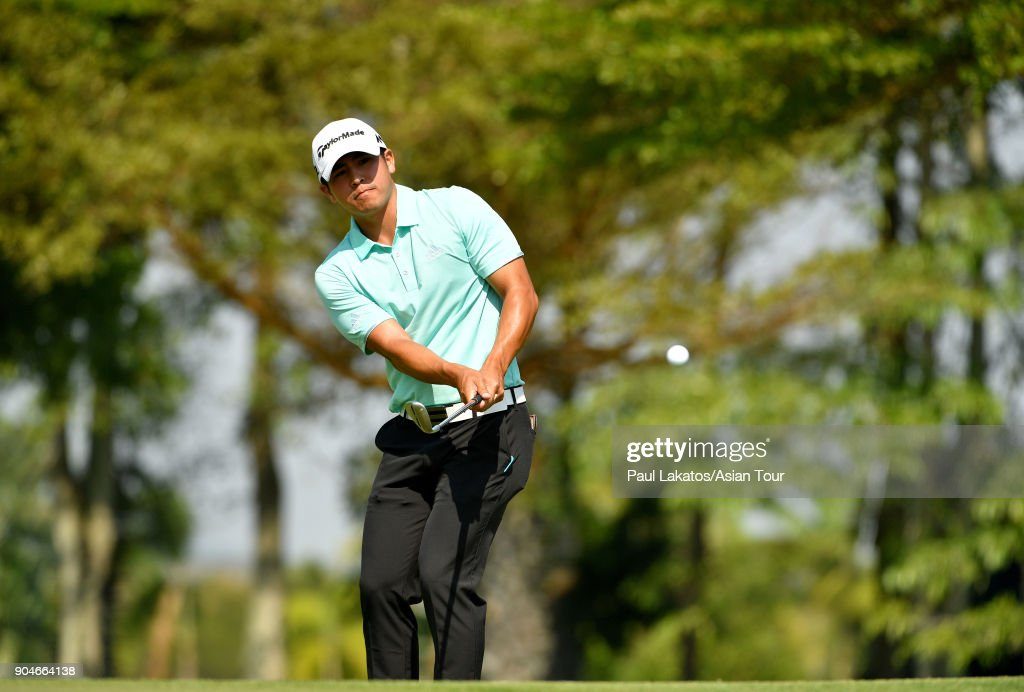 Kurt Kitayama of the USA during round five of the 2018 Asian Tour Qualifying School Final Stage at Rayong Green Valley Country Club on January 14, 2018 in Rayong, Thailand.