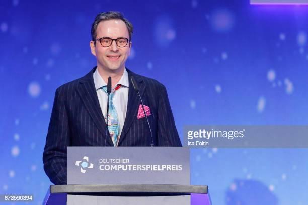 Kurt Kroemer during the German Computer Games Award 2017 at WECC on April 26 2017 in Berlin Germany