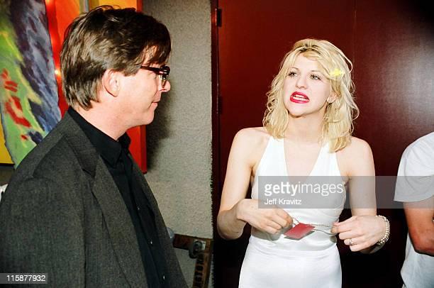 Kurt Loder and Courtney Love