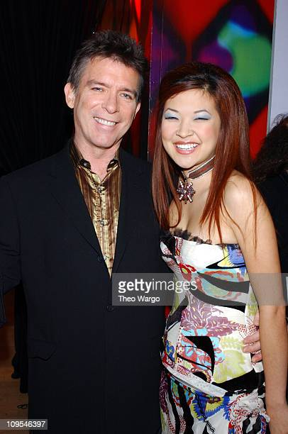 Kurt Loder and Su Chin during MTV 2002 New Year's Party Live from New York City's Times Square Backstage at MTV Studios in New York City New York...