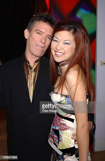 Kurt Loder and SuChin Pak during MTV 2002 New Year's Party Live from New York City's Times Square Backstage at MTV Studios in New York City New York...