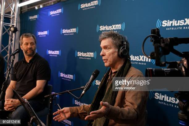 Kurt Loder hosts SiriusXM Town Hall With Judd Apatow Michael Bonfiglio The Avett Brothers at SiriusXM Studios on January 25 2018 in New York City