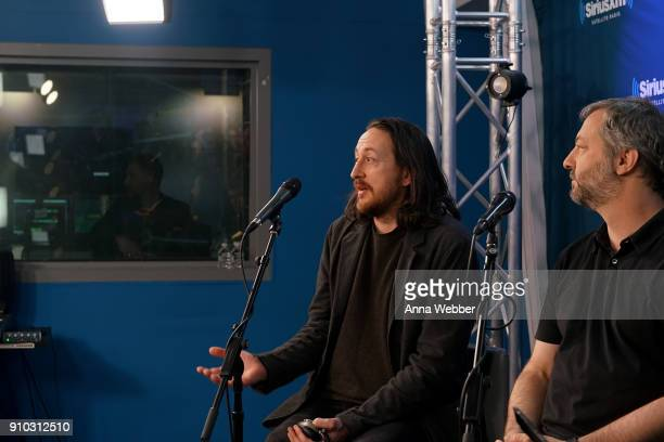 Kurt Loder hosts SiriusXM Town Hall With Judd Apatow R Michael Bonfiglio The Avett Brothers at SiriusXM Studios on January 25 2018 in New York City