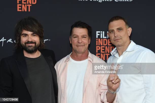Kurt Mattila Eddie Braun and Steve Golebiowski attend the Closing Night Screening of 'Nomis' during the 2018 LA Film Festival at ArcLight Cinerama...