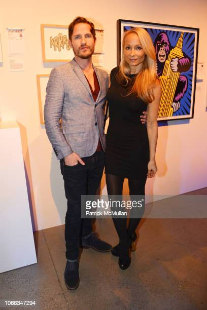 Kurt McVey and Indira Cesarine attend 24th Annual ARTWALK NY at Spring Studios on November 28 2018 in New York City