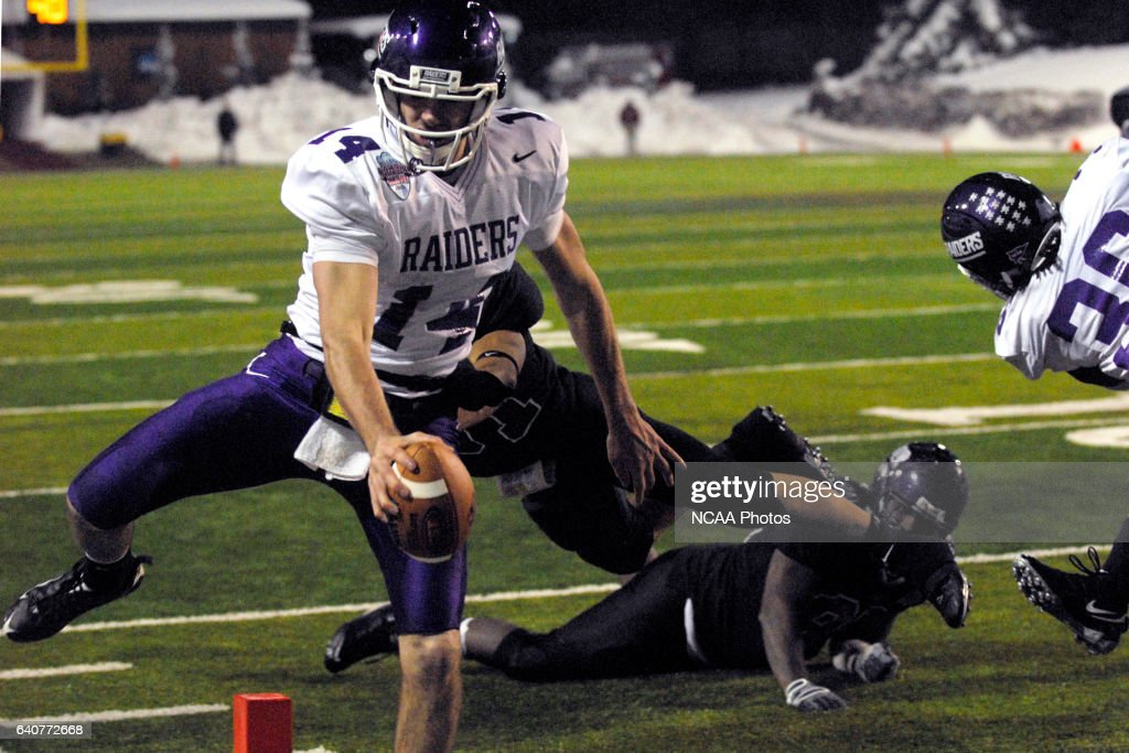 Kurt Rocco Of Mount Union Scores A Touchdown To Tie The Game At 28