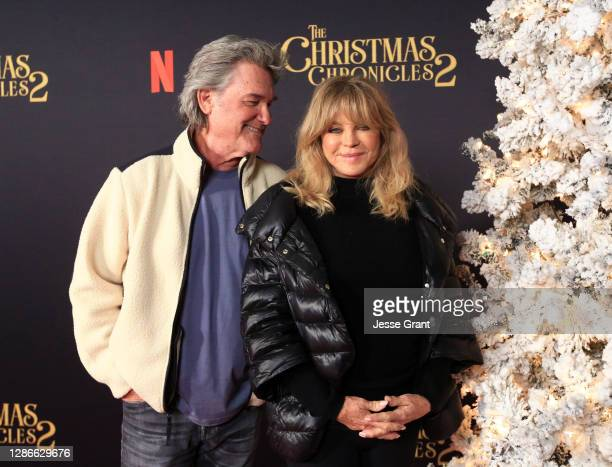 """Kurt Russell and Goldie Hawn attend Netflix's """"The Christmas Chronicles: Part Two"""" Drive-In Event at The Grove on November 19, 2020 in Los Angeles,..."""