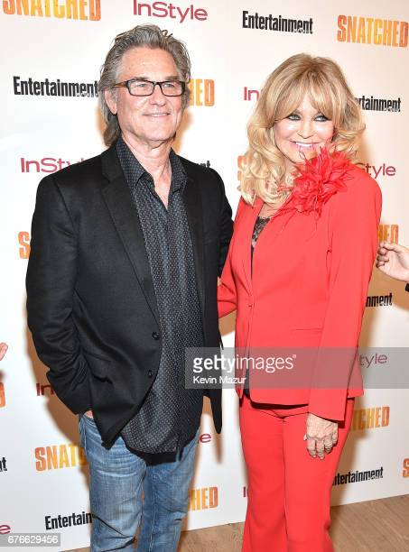 Kurt Russell and Goldie Hawn attend the 'Snatched' New York premiere at the Whitby Hotel on May 2 2017 in New York City