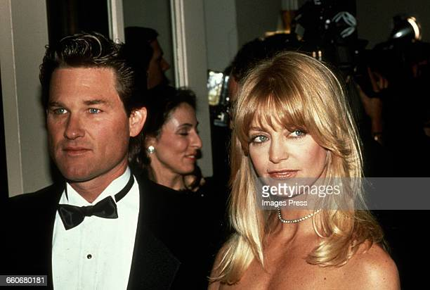 Kurt Russell and Goldie Hawn circa 1990 in New York City