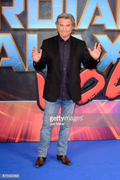 """Kurt Russell attends the European Gala Screening of """"Guardians of the Galaxy Vol. 2"""" at Eventim Apollo on April 24, 2017 in London, United Kingdom."""