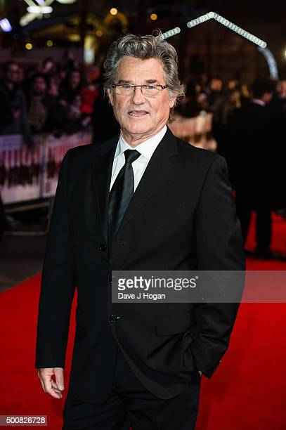 Kurt Russell attends the European Premiere of The Hateful Eight at Odeon Leicester Square on December 10 2015 in London England