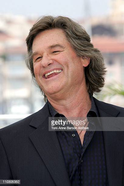 Kurt Russell during 2007 Cannes Film Festival Death Proof Photocall at Palais des Festival in Cannes France