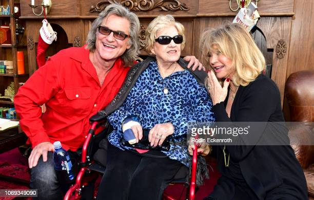 Kurt Russell Louise Julia Russell and Goldie Hawn arrive at the Premiere of Netflix's The Christmas Chronicles at Fox Bruin Theater on November 18...