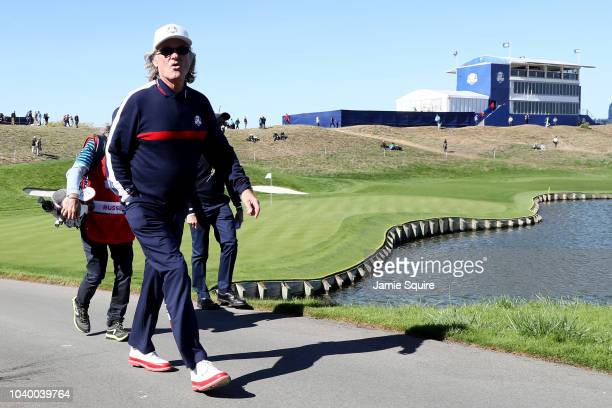 Kurt Russell of Team USA looks on during the celebrity challenge match ahead of the 2018 Ryder Cup at Le Golf National on September 25 2018 in Paris...