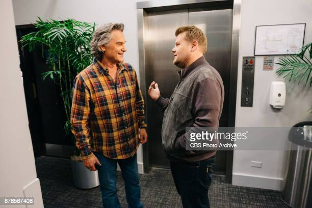 Kurt Russell performs in 'Old Pals' with James Corden during 'The Late Late Show with James Corden' Thursday April 27 2017 On The CBS Television...