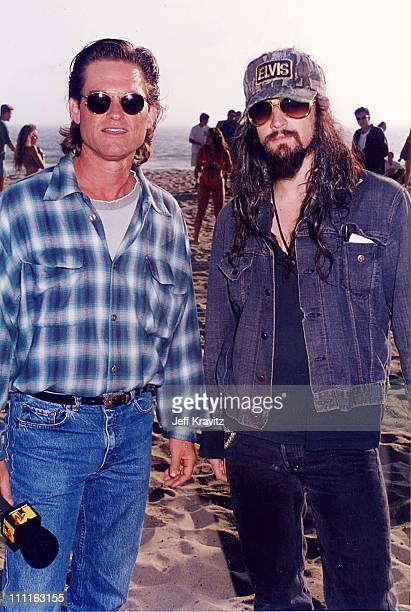 Kurt Russell Rob Zombie during MTV's Escape From LA show at the beach at At the beach in Los Angeles California United States