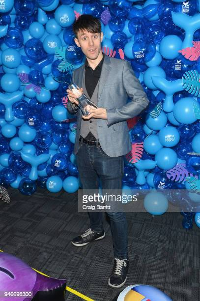 Kurt Schneider poses with the award for Best Youtube Musician during the 10th Annual Shorty Awards at PlayStation Theater on April 15 2018 in New...