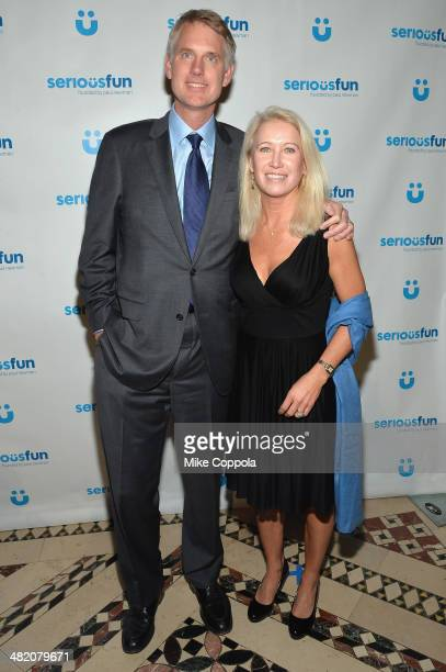 Kurt Soderlund and Clea Newman attend the SeriousFun Children's Network Gala at Cipriani 42nd Street on April 2 2014 in New York City