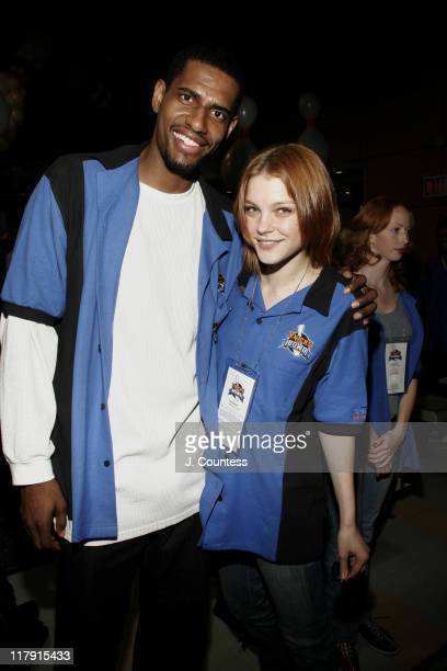 Kurt Thomas and Jessica Stam during New York Knicks Bowl 6 Benefit at Chelsea Piers in New York City New York United States
