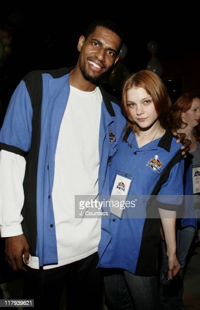 Kurt Thomas and Jessica Stam during New York Knicks Bowl 6 Benefit at Chelsea Piers in New York City, New York, United States.