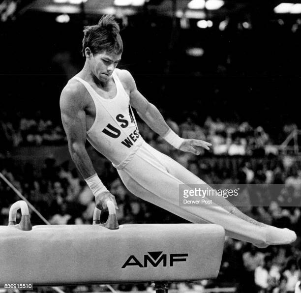 Kurt Thomas Displays Winning Form He won pommel horse but was second overall to Bart Conner Credit Denver Post