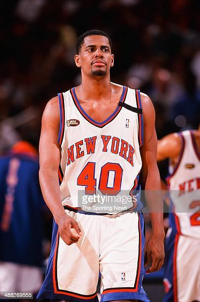 Kurt Thomas of the New York Knicks during Game Five of the NBA Finals against the San Antonio Spurs on June 25 1999 at Madison Square Garden in New...