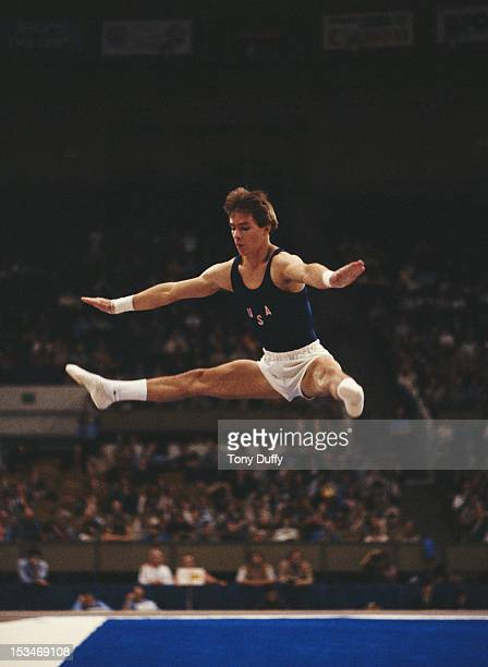 Kurt Thomas of the United States performs during the Men's Allaround event on 29th October 1979 during the World Artistic Gymnastics Championships in...