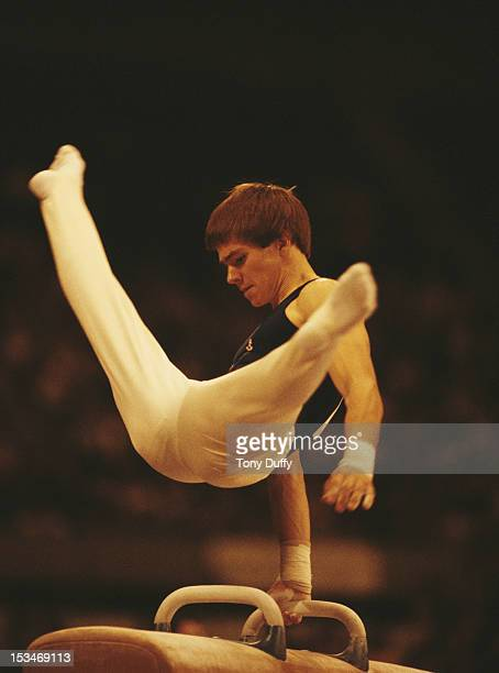 Kurt Thomas of the United States performs during the Men's Pommel horse event on 28th October 1978 during the World Artistic Gymnastics Championships...